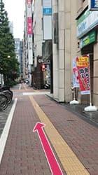 東銀座駅から当店までの道順2